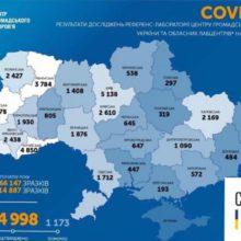 В Україні зафіксовано 664 нові випадки коронавірусної хвороби COVID-19
