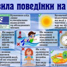 Дотримуйтесь безпеки на воді!