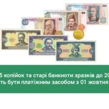 НБУ: монети номіналом 25 копійок перестають бути засобом платежу з 01 жовтня