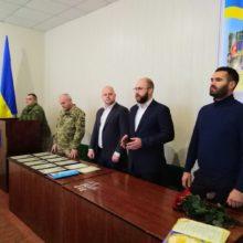 Очільники Черкаського району привітали особовий склад військкомату з Днем Збройних Сил України