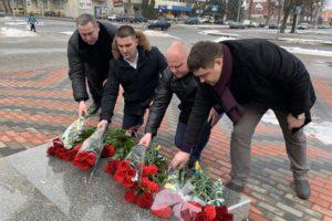 З нагоди Дня Соборності України відбулося покладання квітів до пам'ятного знаку