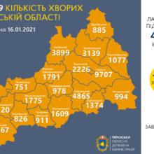 Лариса Кошова про епідситуацію в Черкаській області 16 січня
