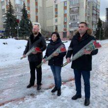 Відбулося покладання квітів до пам'ятного знаку з нагоди 77-ї річниці визволення Черкаського району від нацистських окупантів