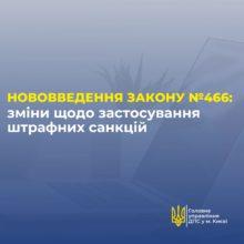 Про внесення змін до Податкового кодексу України Законом України № 466-IX  від 16 січня 2020 року в частині застосування штрафних санкцій за порушення правил сплати (перерахування) грошового зобов'язання