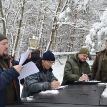 Триває зимовий облік диких тварин у лісах Черкащини