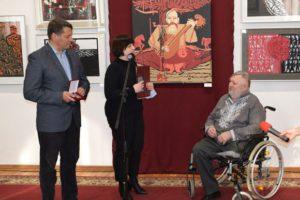 З нагоди ювілею митця Миколу Теліженка нагородили почесною грамотою Черкаської ОДА