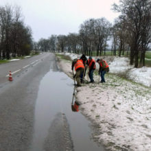 На автодорогах Черкащини проводяться роботи із водовідведення