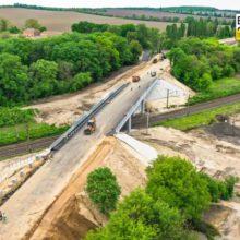 У Городищі завершують будівництво шляхопроводу на Н-16