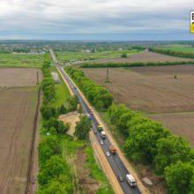 На Шполянщині ладнають 8 кілометрів автошляху Н-16 (фото, відео)