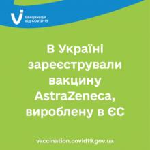 В Україні зареєстрували вакцину AstraZeneca, вироблену в ЄС