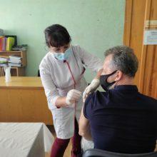 Держслужбовці Черкаської РДА вакцинувалися проти COVID-19
