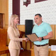 Голова Черкаської РДА Валерія Бандурко отримала подяку від Руськополянського голови громади Олега Гриценка