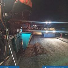 На автодорозі Н-16 на виїзді з Черкас у напрямку Сміли цілодобово проводяться дорожні роботи
