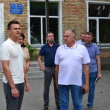 Керівництво області та району перевірили хід ремонтних робіт у Білозірському ліцеї